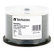 Verbatim DVDR 47GB 8X DataLifePlus White