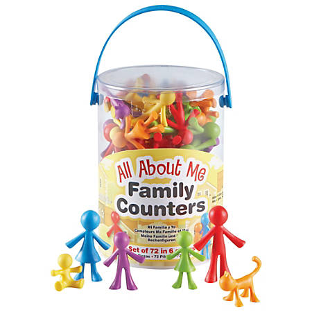 Learning Resources® All About Me Family Counters, Assorted Colors, Grades Pre-K - 8, Pack Of 72