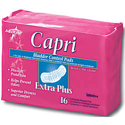 Capri Bladder Control Pads Extra Plus