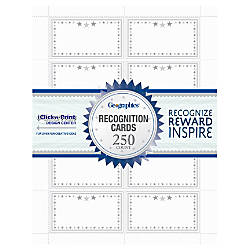 Geographics Recognition Cards 8 12 x