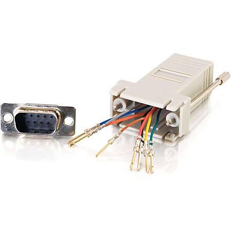 C2G RJ45 to DB9 Male Modular Adapter - Gray