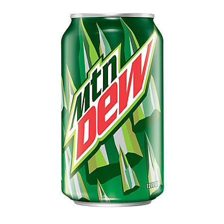 Mountain Dew, 12 Oz, Pack Of 24 Cans