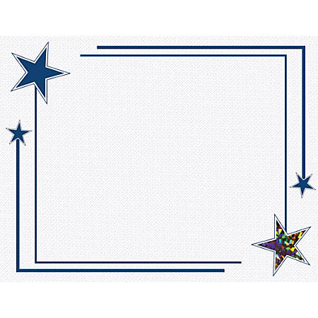 Geographics Holographic Foil Certificates, 30% Recycled, Rising Star, Pack Of 12
