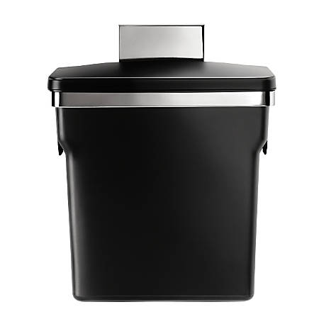 simplehuman® Plastic In-Cabinet Trash Can, 2.64 Gallons, Black