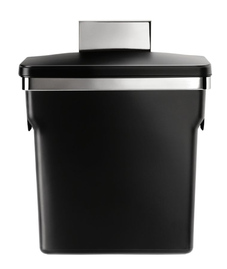 Simplehuman Plastic In Cabinet Trash Can 2.64 Gallons Black By Office Depot  U0026 OfficeMax