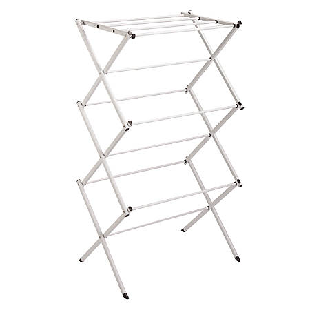 "Honey-Can-Do Compact Folding Drying Rack, 41 1/8""H x 22 1/2""W x 14 1/2""D, Chrome"