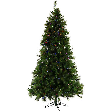 Fraser Hill Farm 6.5' Artificial Canyon Pine Christmas Tree With Multicolor LED Lights And EZ Connect