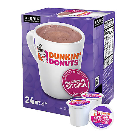 Dunkin' Donuts Hot Cocoa K-Cup® Pods, 1.89 Oz, Pack Of 24 Pods