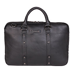 "Kenneth Cole Reaction Slim Double-Gusset Case For 16"" Laptops, Black"