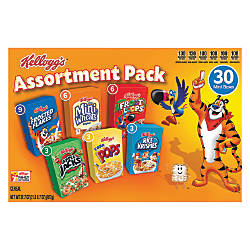 Kelloggs Mini Cereal Assortment Pack Box
