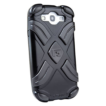 G-Form XTREME Samsung Galaxy S3 Case - For Smartphone - X - Metallic Black - Shock Proof, Impact Absorbing - Polycarbonate, Thermoplastic Elastomer (TPE), Plastic