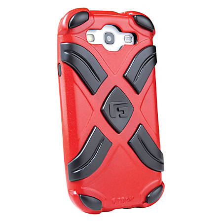 G-Form XTREME Samsung Galaxy S3 Case - For Smartphone - X - Metallic Red, Black - Shock Proof, Impact Resistant - Polycarbonate, Thermoplastic Polyurethane (TPU), Silicone