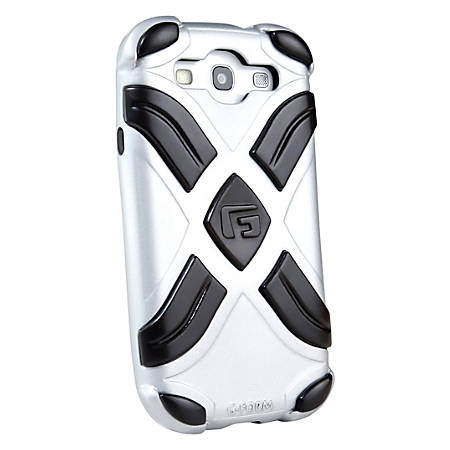 G-Form XTREME Samsung Galaxy S3 Case - For Smartphone - X - Metallic Silver, Silver - Shock Proof, Impact Resistant - Polycarbonate, Thermoplastic Polyurethane (TPU), Silicone