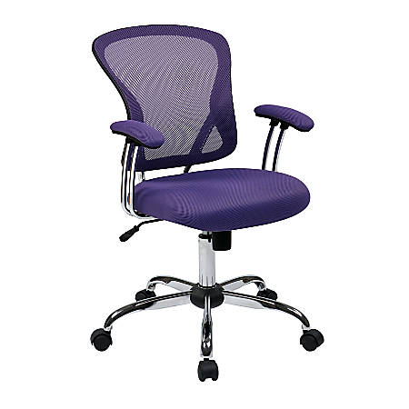 Office Star™ Avenue Six® Juliana Mesh Task Chair, Purple/Silver