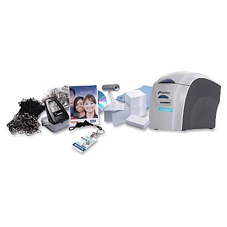 Pronto Dye Sublimation/Thermal Transfer Color Printer & ID Badge Kit, SRX36490001K1