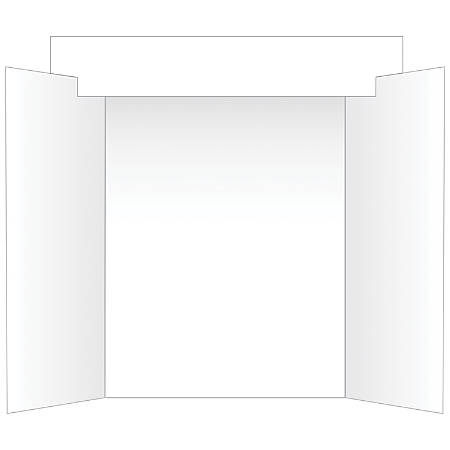 Geographics® Tri-Fold Project Board With Interlocking Header, White