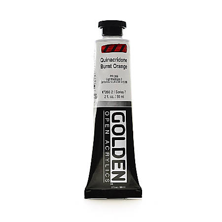 Golden OPEN Acrylic Paint, 2 Oz Tube, Quinacridone Burnt Orange