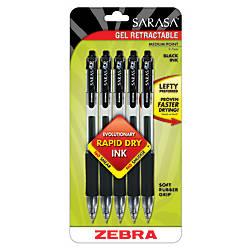 Zebra Sarasa Retractable Gel Pens Black