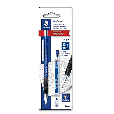 Staedtler-Mars® 775 Micro Mechanical Pencil With Refills, 0.7 mm, Blue Barrel