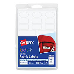Avery No Iron Clothing Labels 40700