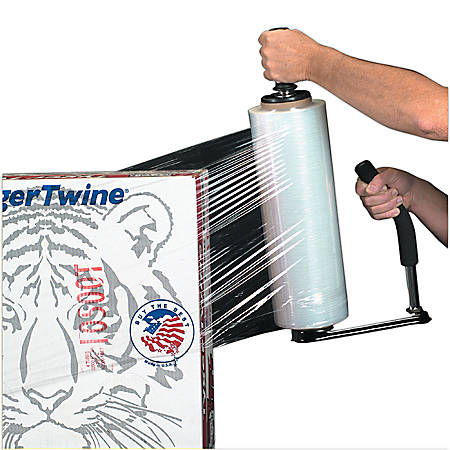 """Office Depot® Brand Blown Hand Stretch Film, 120 Gauge, 15"""" x 1000', Clear , Pack Of 4"""