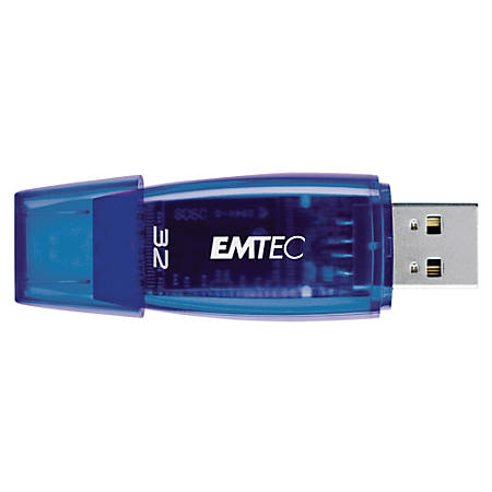 Emtec C400 USB 2.0 Flash Drive, 32GB, Blue