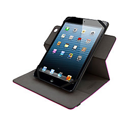"Lifeworks Universal Swivel Case For 7 - 8"" Tablets, LW-T2010P, 8.75""H x 6.40""W x 0.65""D, Pink"