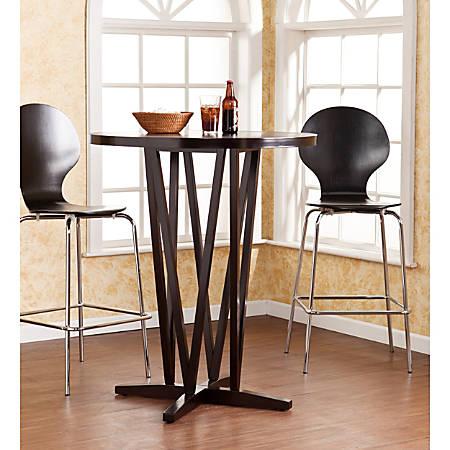 Southern Enterprises Devon Bar Table, Round, Dark Espresso