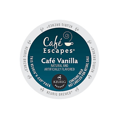 Café Escapes™ Café Vanilla K-Cup® Pods, Box Of 24