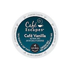 Caf Escapes Caf Vanilla K Cup