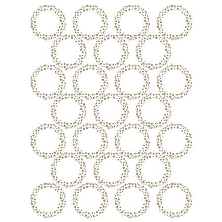 "Geographics® Printable Foil Seals, 1 1/4"" Diameter, Gold, Pack Of 75"