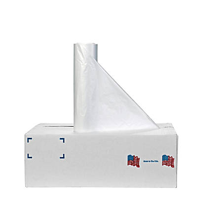 """Noramco 1-mil LLDPE Can Liners On Rolls, 55 Gallons, 38"""" x 58"""", Clear, Pack Of 100"""