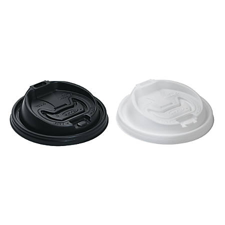 Dart® Optima Reclosable Hot Cup Lids, For 12-24 Oz Foam Cups, White, Case Of 1,000