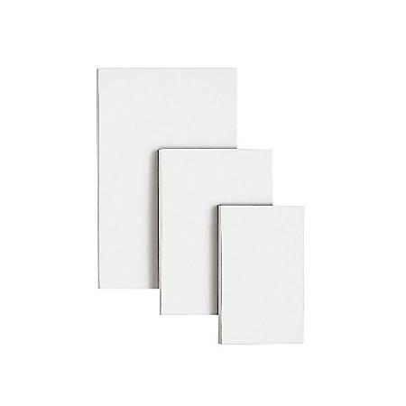 """OfficeMax Scratch Pads, 3"""" x 5"""", Unruled, 200 Pages (100 Sheets), White, Carton Of 180"""