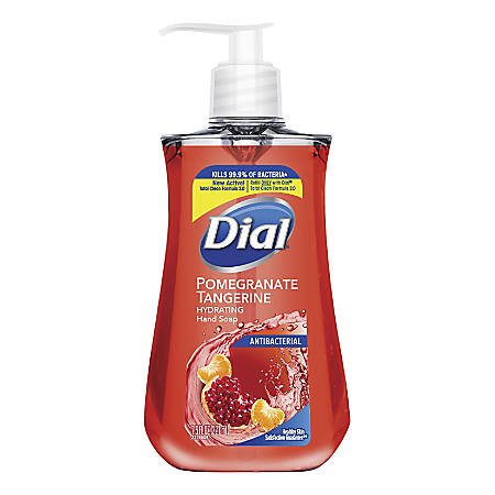 Dial Antimicrobial Liquid Soap, 7.5 Oz, Pomegranate and Tangerine