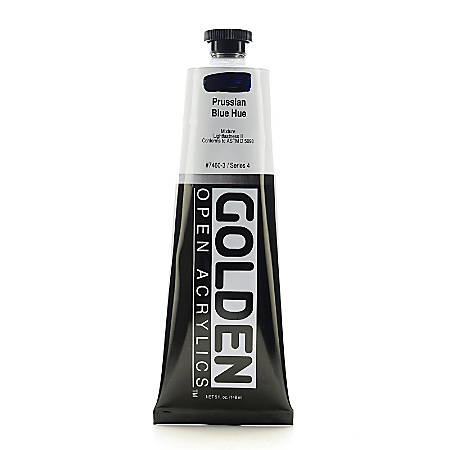 Golden OPEN Acrylic Paint, 5 Oz Tube, Prussian Blue Hue
