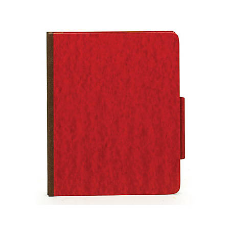 [IN]PLACE® Moisture-Resistant Classification Folders, Legal Size, 2 Dividers, Dark Red, Box Of 10
