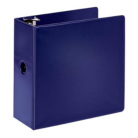 "Office Depot® Brand Durable Slant D-Ring Binder, 5"" Rings, Blue"