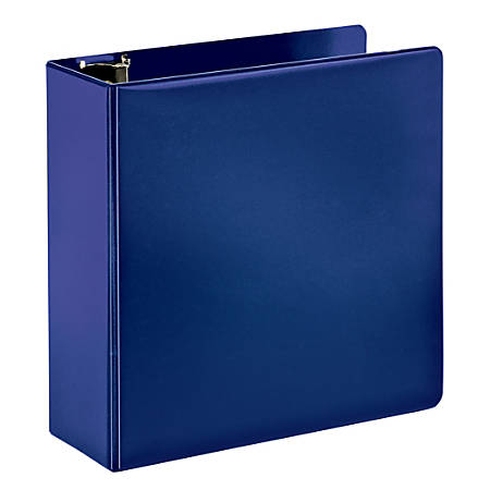 """Office Depot® Brand Durable Slant D-Ring Binder, 4"""" Rings, 65% Recycled, Blue"""