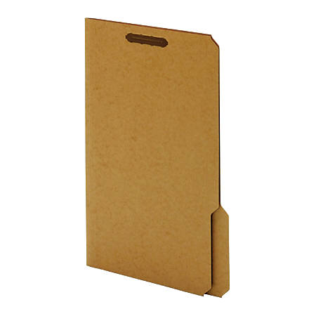 "Kraft Folders With Fasteners By [IN]PLACE®, 1"" Expansion, Legal Size, Kraft, Box Of 50"