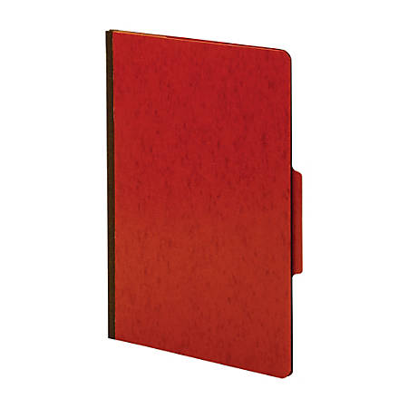 Office Depot® Brand Moisture-Resistant Classification Folders, 1 Divider, Legal Size, Red, Box Of 10