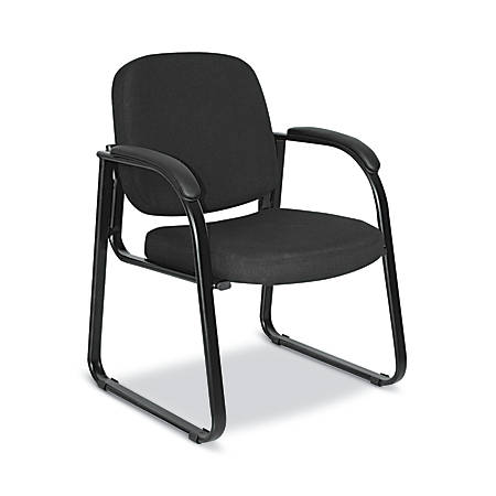 Alera Reception Lounge Series Sled-Base Guest Chair, Black