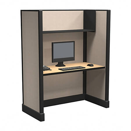Cube Solutions Commercial-Grade Full-Height Call-Center Cubicle, Single Cubicle