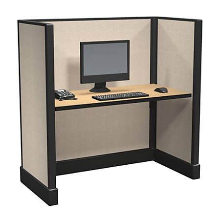Cube Solutions Commercial-Grade Mid-Height Call-Center Cubicle, Single Cubicle