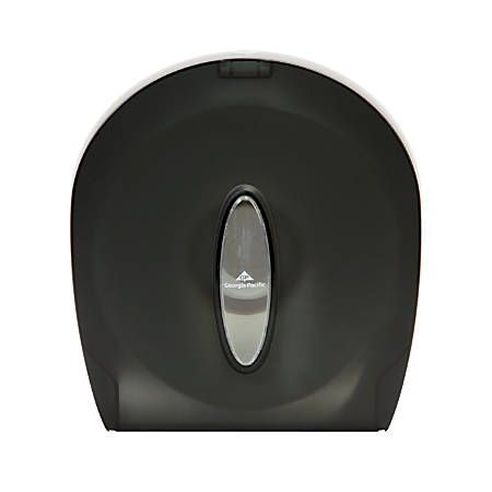 "Georgia-Pacific Jumbo Jr. 1-Roll Bathroom Tissue Dispenser, 11 3/8""H x 10 5/8""W x 5 1/2""D, Translucent Smoke"