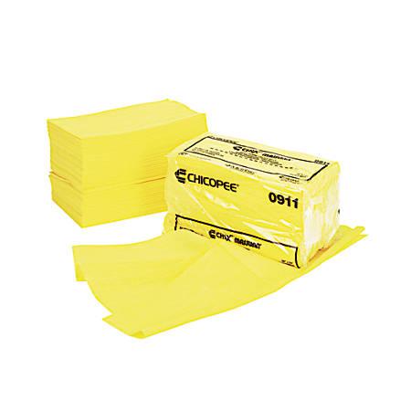 "Chicopee Masslinn Dust Cloths, 24"" x 24"", Yellow, 50 Cloths Per Bag, Case Of 2 Bags"