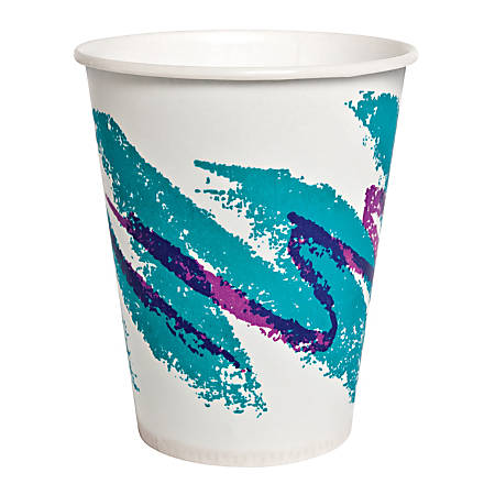 Solo® Jazz Waxed Paper Cold Cups, 7 Oz, Case Of 2,000