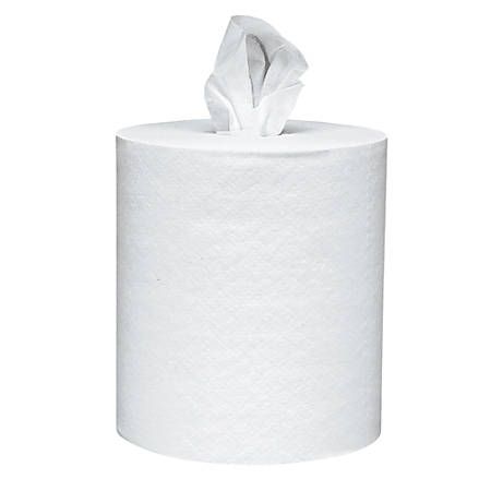"""Scott® 1-Ply Center-Pull Paper Towels, 8"""" x 15"""", White, 500 Sheets Per Roll, Pack Of 4"""