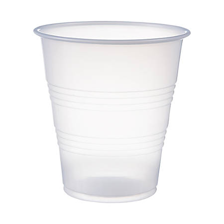 Solo® Galaxy Plastic Cups, 7 Oz, Clear, Case Of 750 Cups