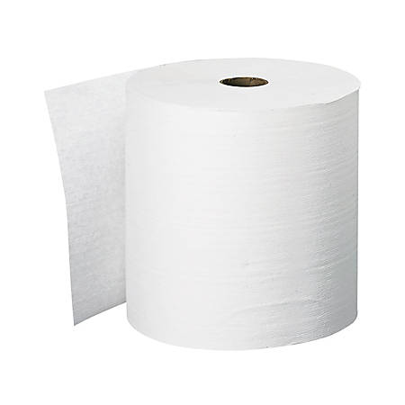 """Kleenex® FSC Certified Hard Roll Paper Towels, 40% Recycled, White, 8"""" x 600', Case Of 6 Rolls"""